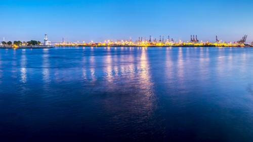 Blick von den Docklands in Hamburg